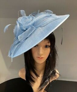 NIGEL RAYMENT ICE BLUE DISC HATINATOR WEDDING ASCOT HAT OCCASION FORMAL