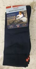 Danish Endurance 3 Pack Merino Wool Dress Socks for Men & Women Navy NEW