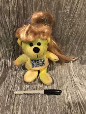 "Brady Bunch Bear Jan Brady Stuffed Animal Plush 7"" Tie-Dye Beanbag Beanie VTG"