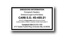 Supercharger Kit CARB Sticker D-637