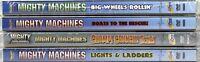 Mighty Machines 4 SET NEW DVDs Big Wheels, Boats Chomp Crunch, Lights & Ladders
