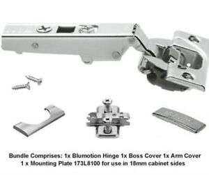 Blum 110 Degree Blumotion Soft Close Hinge 71B3550 Complete bundle
