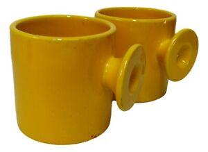 coppia di bicchieri tazze ceramica il picchio design enzo bioli anni 70 vintage