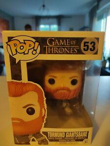 Tormund Giantsbane Pop! Vinyl, Game of Thrones. #53 Funko Pop Vinyl