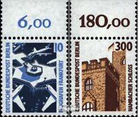 Berlin (West) 798A-799A Oberrandstück (kompl.Ausg.) gestempelt 1988 Sehenswürdig