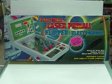 VINTAGE 1989 BATTERY OPERATED ELECTRONIC LASER PINBALL FLIPPER GAME MIB TAIWAN