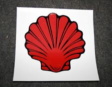 1920's style Shell clam logo self-adhesive vinyl decal suit petrol bowser