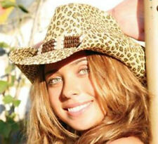 NEW Conner Hats Ladies Leopard Camo Toyo Women's Western Cowboy Straw Hat F1099