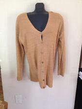 Ellen Tracy Linda Allard Gold Cardigan Thin Long Sweater X Women 0X