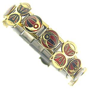 """Italian Charms Bracelet  Designer 18ct Gold and Enamel  """" Dance """""""