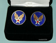 Us Army Air Corps Cuff Links in Presentation Gift Box - Usaaf - Usaf Air Force