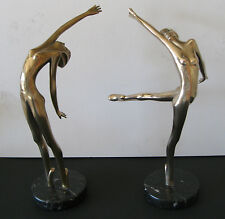 1982 Tom Bennett Bronze Sculptures - 2 Beautiful Dancers