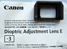 Canon Dioptric Adjustment Lens E-3 for EOS Camera New