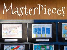 Masterpieces Nursery Classroom School Artwork Wall Lettering Decal Vinyl Sticker