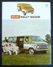 GMC RALLY WAGON/ VAN SALES BROCHURE 1973.