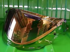 Arai Vas V Type Gold Mirror Visor Quantum X Signet X Pinned for Max Vision