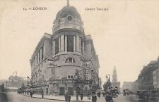 London Postcard. Gaiety Theatre. Published in Paris.  Mailed 1910