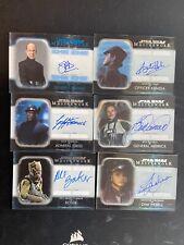 2020 Star Wars Masterwork Autograph auto card lot