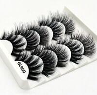 5 Pairs Multipack Mink Hair False Eyelashes Wispy Fluffy Long Natural Eye Lashes