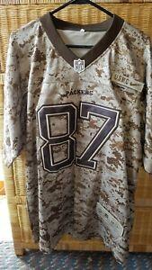 Green Bay Packers Stitched USMC Camo Jordy Nelson Jersey Size L 44