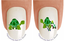 Nail Art #2131 ANIMAL Green Turtles #1 Waterslide Nail Decals Transfers Stickers