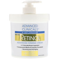 Advanced Clinicals  Retinol  Advanced Firming Cream  16 oz  454 g