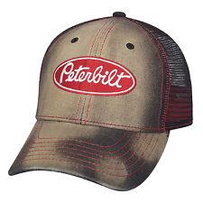 PETERBILT *DISTRESSED DENIM & MESH* TRADEMARK LOGO HAT CAP * NEW!!* PB28