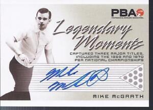 2008 PBA Bowling Autograph Legendary Moments Mike McGrath