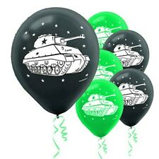 """""""CAMO GEAR""""     Pack of 6 - Camouflage Tank 12"""" Helium Quality Latex Balloons!"""