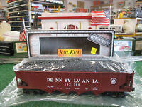MTH 30-8003 PENNSYLVANIA 4 BAY HOPPER WITH COAL LOAD (DIE-CAST METAL!) (NIOB)