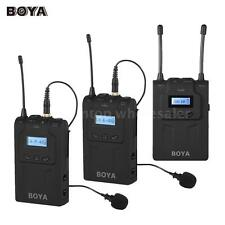 BOYA BY-WM8 Wireless Clip-on Microphone Mic for DSLR Camera Video Camcorder T7H2