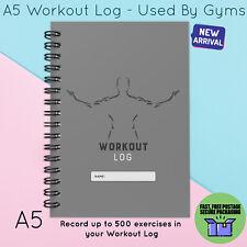 Registro de entrenamiento A5 Dieta & Pérdida de peso diario de registro Gimnasio Ejercicio de uso en el hogar Hombre Gris