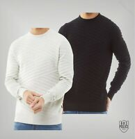 Mens 883 Police Crew Neck Long Sleeve Textured Knit Jumper Sizes from S to XXL