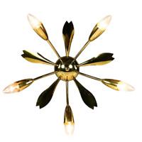 Sputnik Lampe 50er Jahre Decken Leuchte Messing Spider 5flammig Vintage MCM