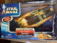 2002 Hasbro STAR WARS ATTACK OF THE CLONES *ANAKIN SKYWALKER SPEEDER* (MIB)