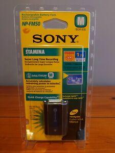 Sony NP-FM50 InfoLithium Li-ion 7.2v Genuine Original Camcorder Battery Sealed
