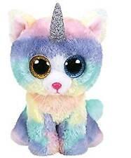 Ty Beanie Baby Soft Toy Multicoloured Ty36250 Heather The Unicorn Cat 15cm