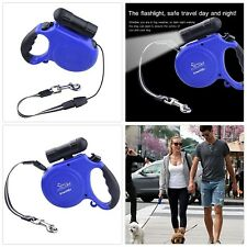 Automatic Retractable Dog Leash with Led Light Flashlight 16ft Long Dog Belt