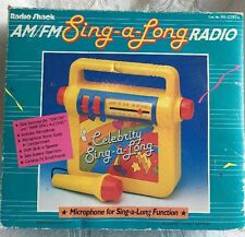 "Vintage Radio Shack AM/FM Sing-a-Long Radio With microphone ""AS IS"""