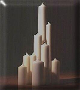6 Stück Kaminkerzen-Altarkerzen-Größe: 400 x 25mm  Farbe: elfenbein