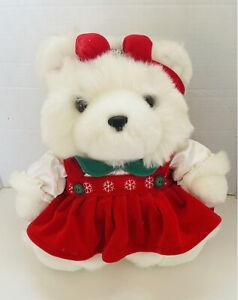 DAYTON HUDSON Miss Santa Bear 1996 Stuffed Animal Plush Christmas Teddy Bear