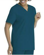 2Pcs Set Scrubstar Women's V-Neck Scrub Top with Patch Pocket + Pant One Pocket