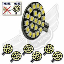 6X T10 T15 921 194 Natural White RV Trailer Interior 12V LED Light Bulbs 21SMD