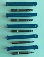 Lot Carbure Fin Mills 2/3/4/5/6mm. WNT NEW-5pcs.