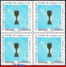 1166 BRAZIL 1970 WORLD CUP CHAMPIONSHIP, MEXICO, TROPHY, MI# 1260, BLOCK MNH