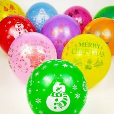 """25Pcs 12"""" Assorted Christmas Printed Latex Balloons Celebration Party Favors"""