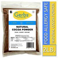 Natural Cocoa Powder 2 LBS - Food Allergy Safe - Non GMO Vegan & Kosher by Gerbs