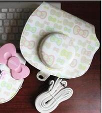 Cute Camera Case Bag For Fujifilm Polaroid instax mini Hello Kitty 40th Green
