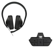 Genuine Microsoft Xbox One Stereo Headset Headphones Includes Controller Adapter