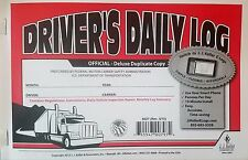 50-PACK JJ Keller Driver's Daily Log Book 8527/601L W/DVIR & MONTHLY LOG SUMMARY